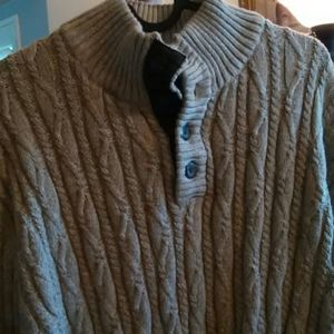 Tasso Elba XXL Tan Cable Knit Sweater
